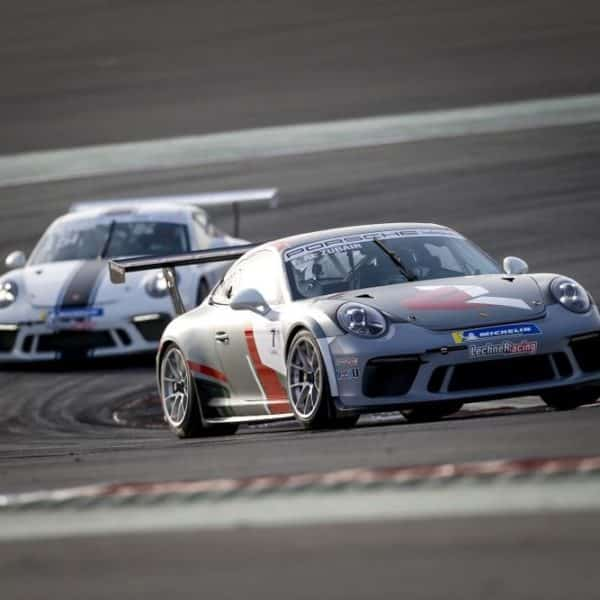 Porsche on Race Track