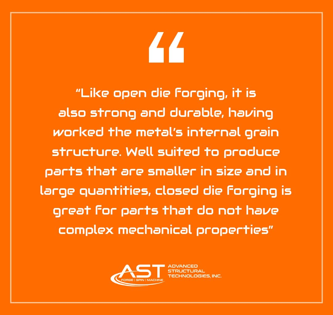 closed die forging applications
